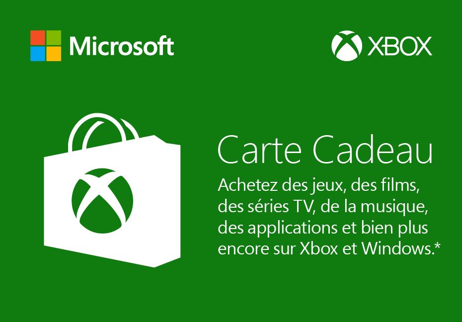 Xbox One Achat Store Etranger Carte Cadeau