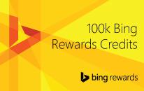 Sweepstakes entries 1 winner 100k bing rewards credits 50 credits
