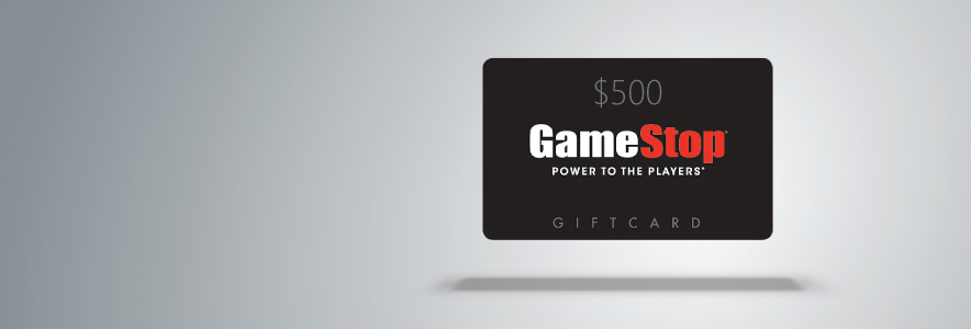 Win one of three 500 gamestop gift cards